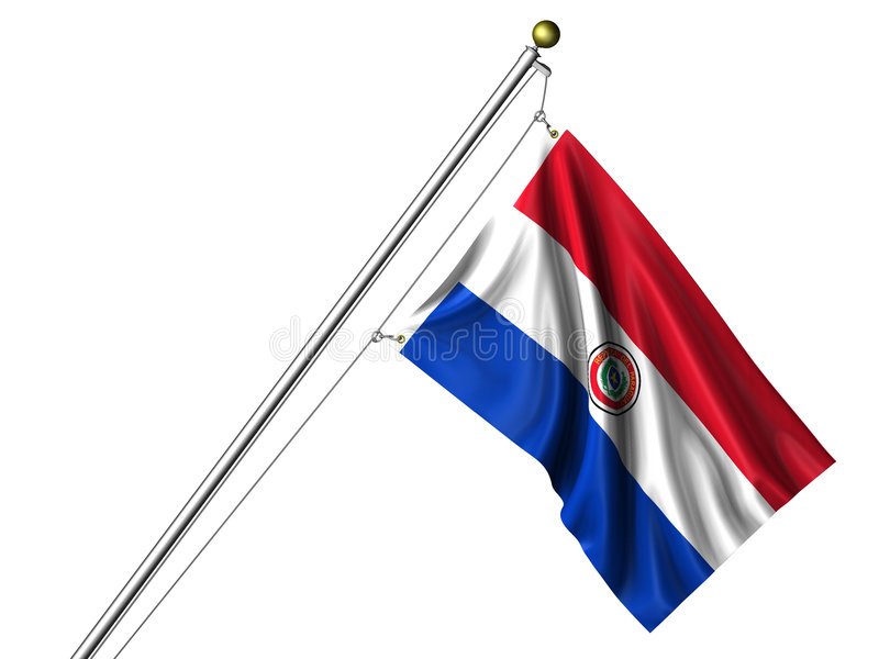 flagga isolerad paraguayan stock illustrationer