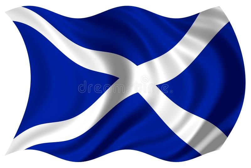 flagga isolerade scotland royaltyfri illustrationer