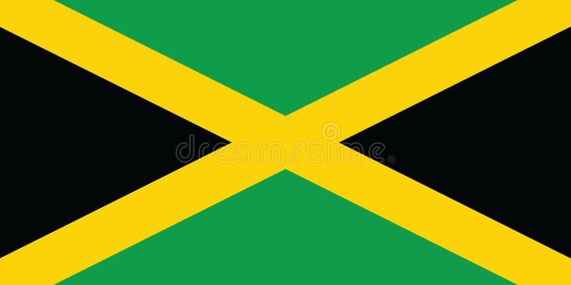 flagga jamaica royaltyfri illustrationer