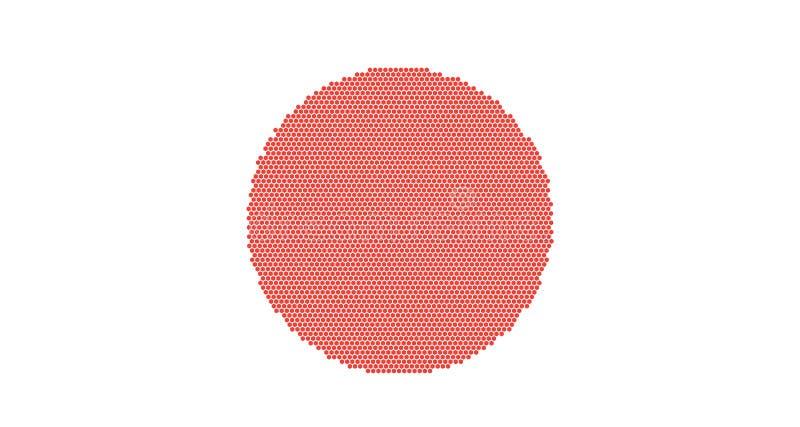 flagga japan Celled stylizationjapannationsflagga också vektor för coreldrawillustration stock illustrationer