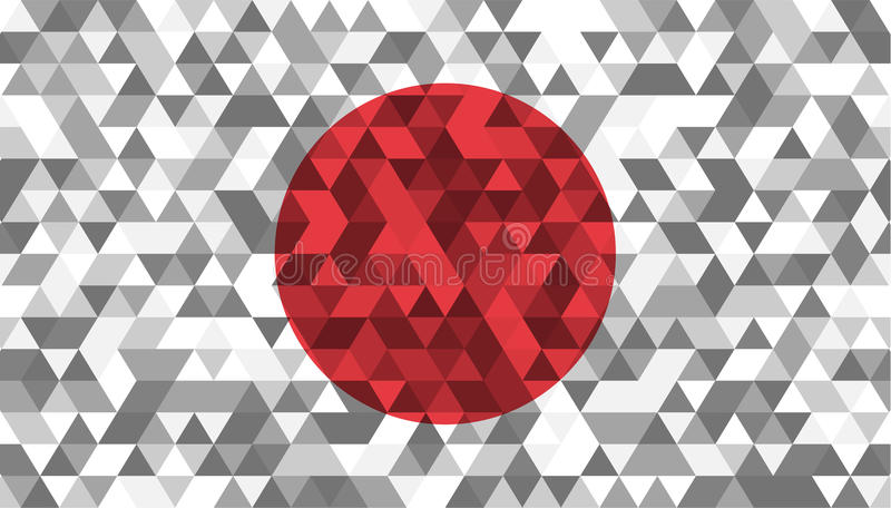 flagga japan Celled stylizationjapannationsflagga också vektor för coreldrawillustration royaltyfri illustrationer