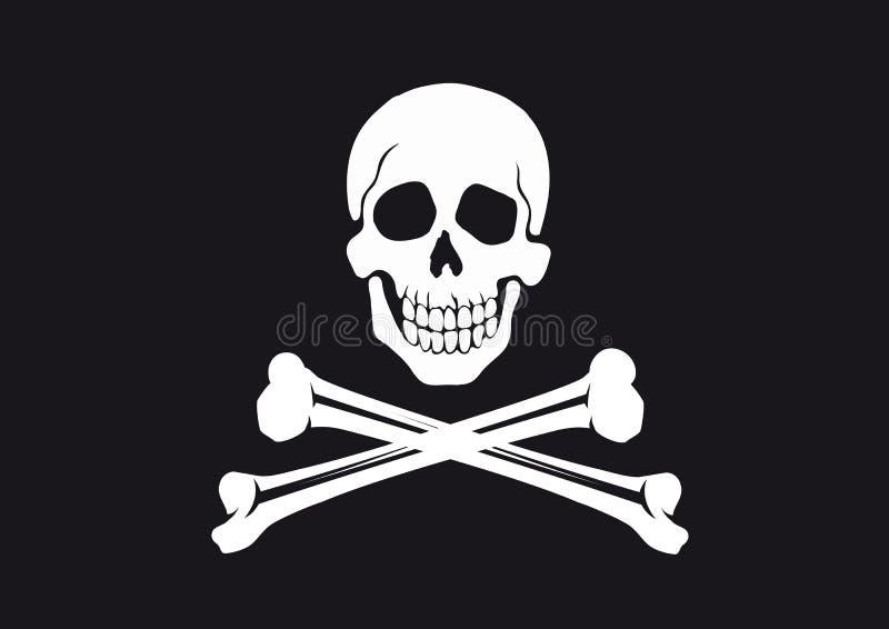 flagga jolly roger royaltyfri illustrationer