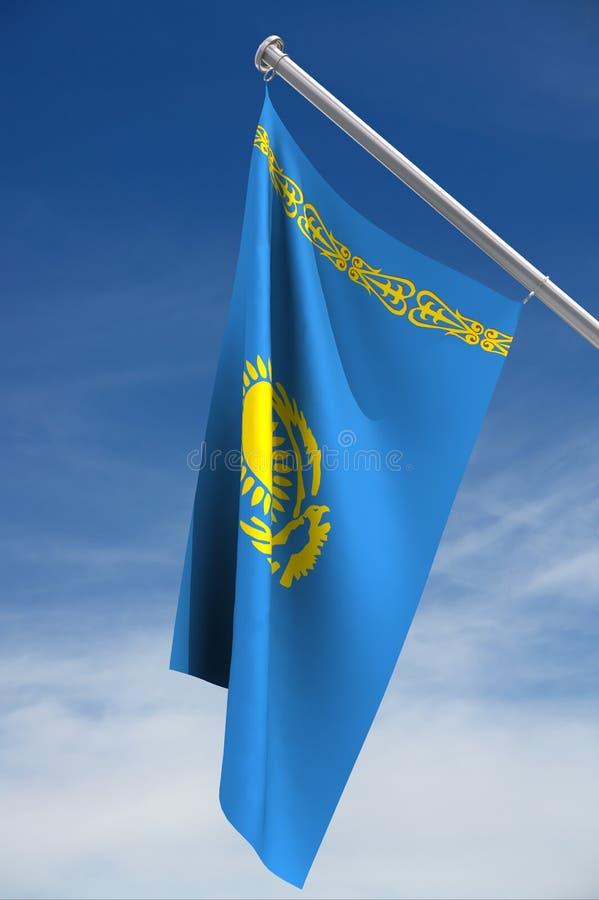flagga kazakhstan vektor illustrationer