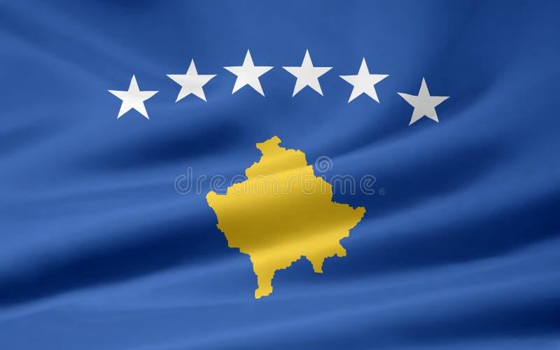 flagga kosovo stock illustrationer