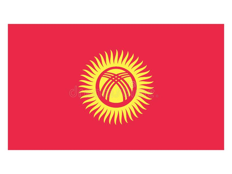 flagga kyrgyzstan vektor illustrationer