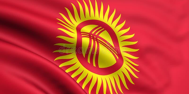 flagga kyrgyzstan vektor illustrationer