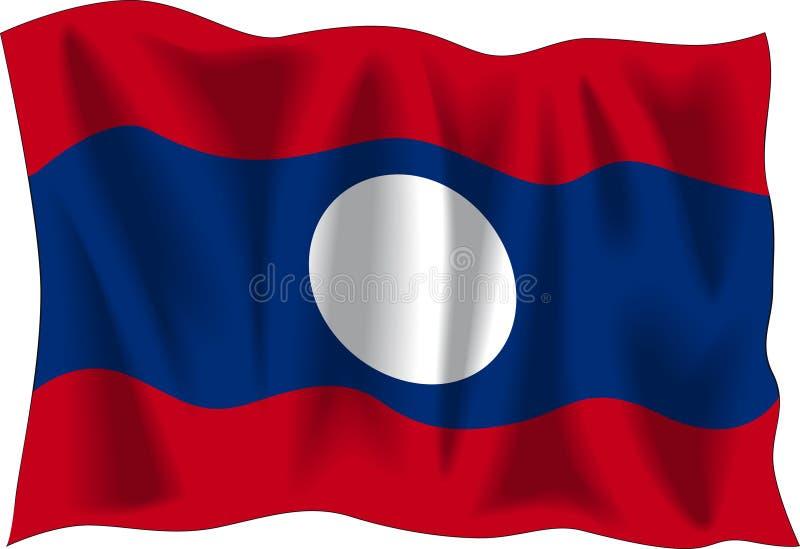 flagga laos vektor illustrationer