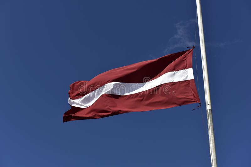 flagga latvia royaltyfria bilder