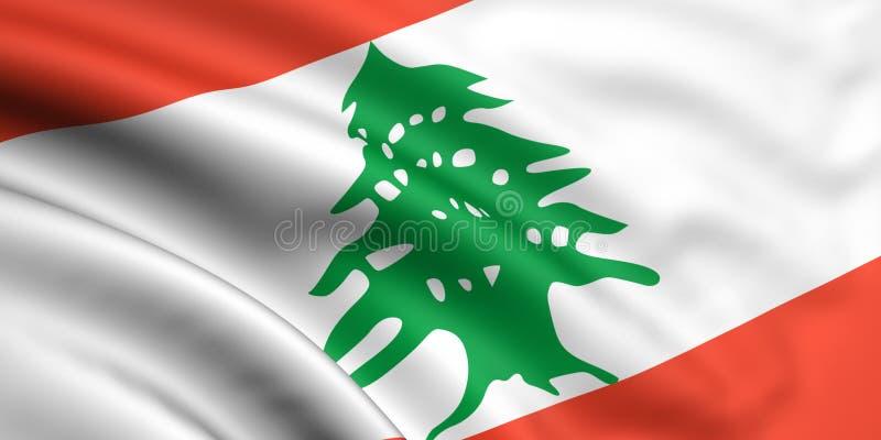 flagga lebanon vektor illustrationer