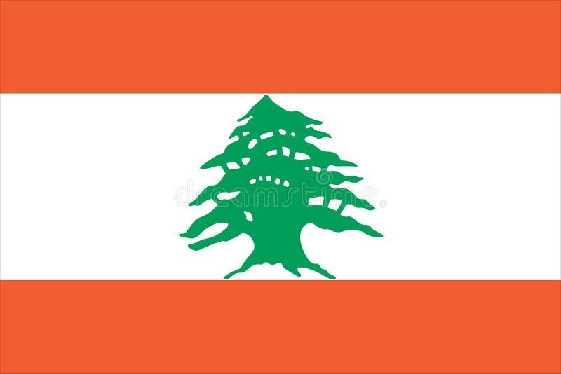 flagga lebanon stock illustrationer