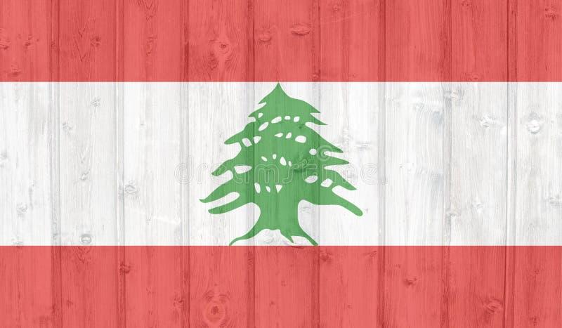 flagga lebanon arkivfoton