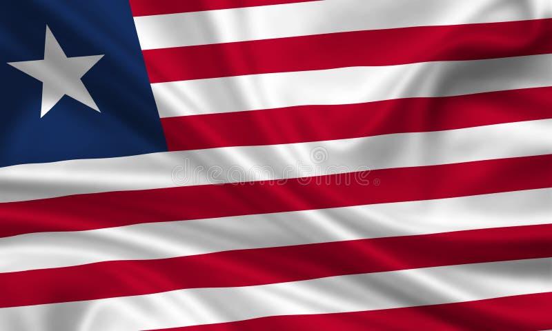 flagga liberia arkivfoto