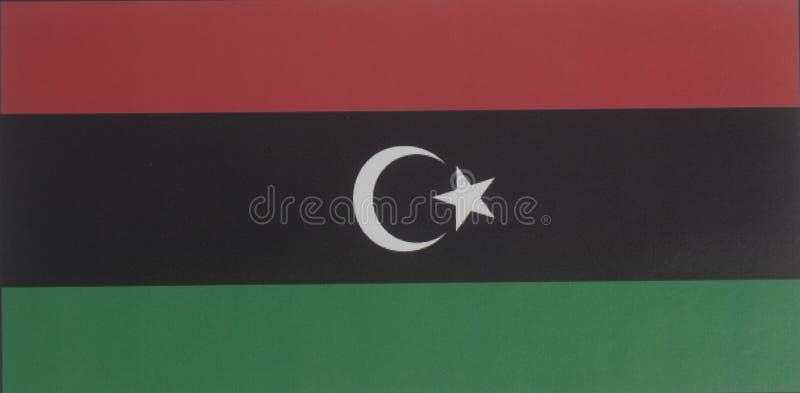 flagga libya fotografering för bildbyråer