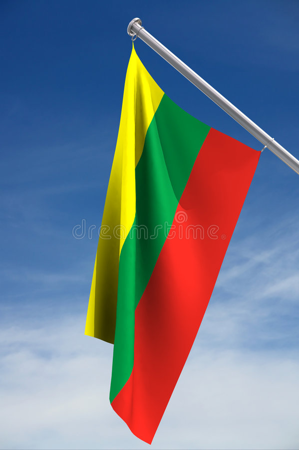 flagga lithuania royaltyfria bilder