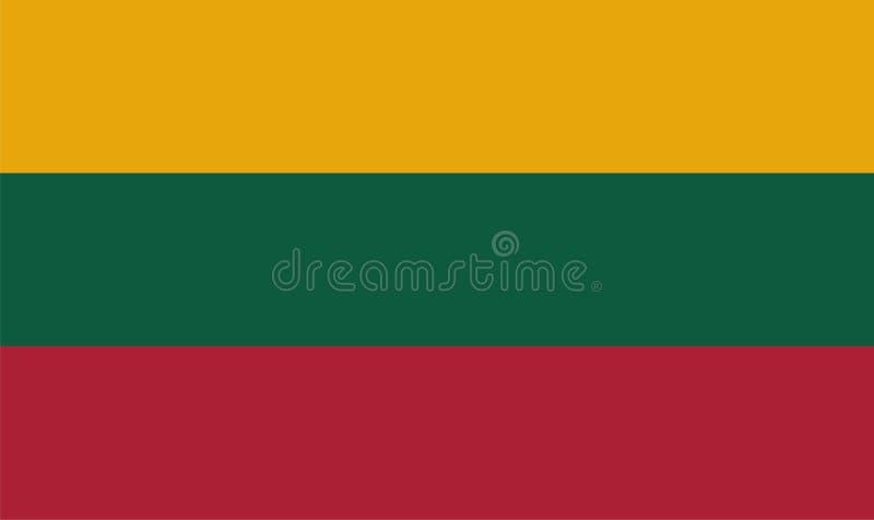 flagga lithuania royaltyfri illustrationer