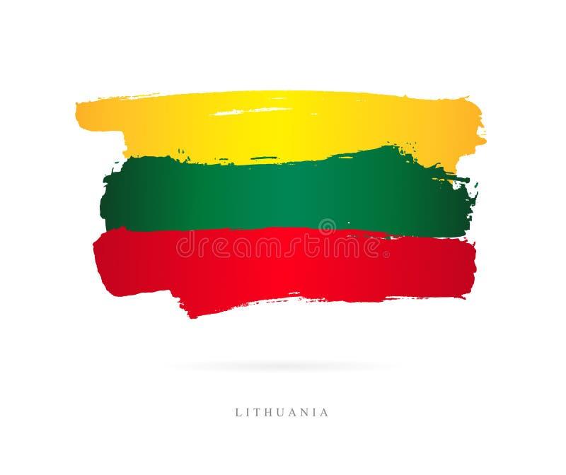 flagga lithuania Abstrakt begrepp royaltyfri illustrationer