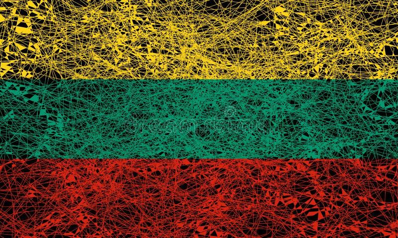 flagga lithuania stock illustrationer