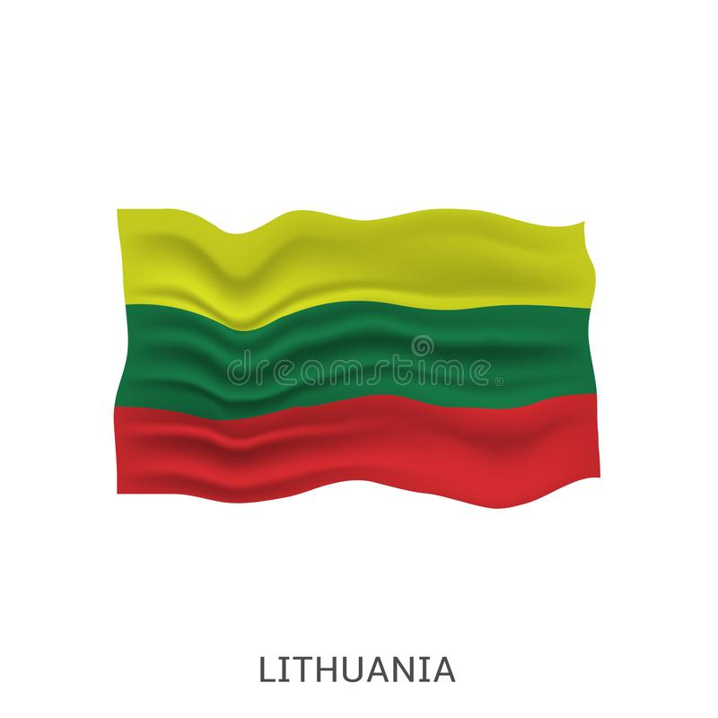 flagga lithuania vektor illustrationer