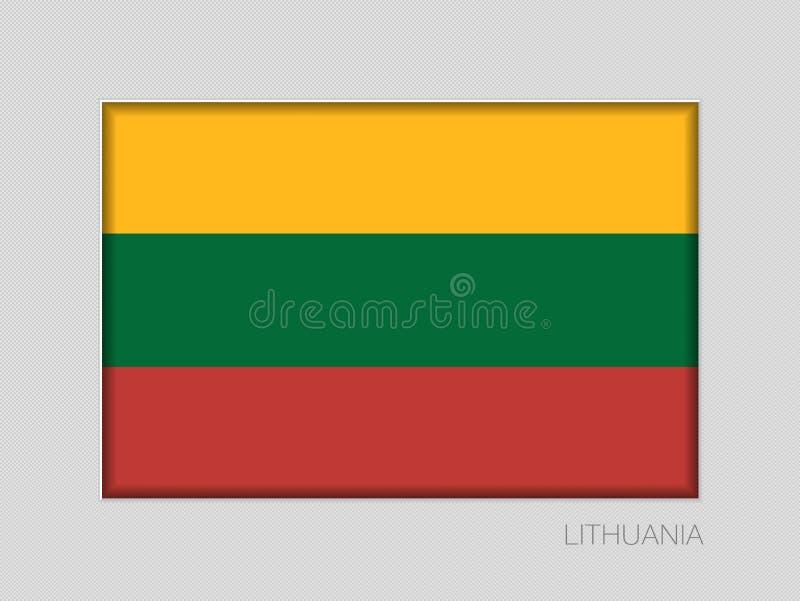 flagga lithuania Nationellt flaggaaspektförhållande 2 till 3 på grå färger royaltyfri illustrationer