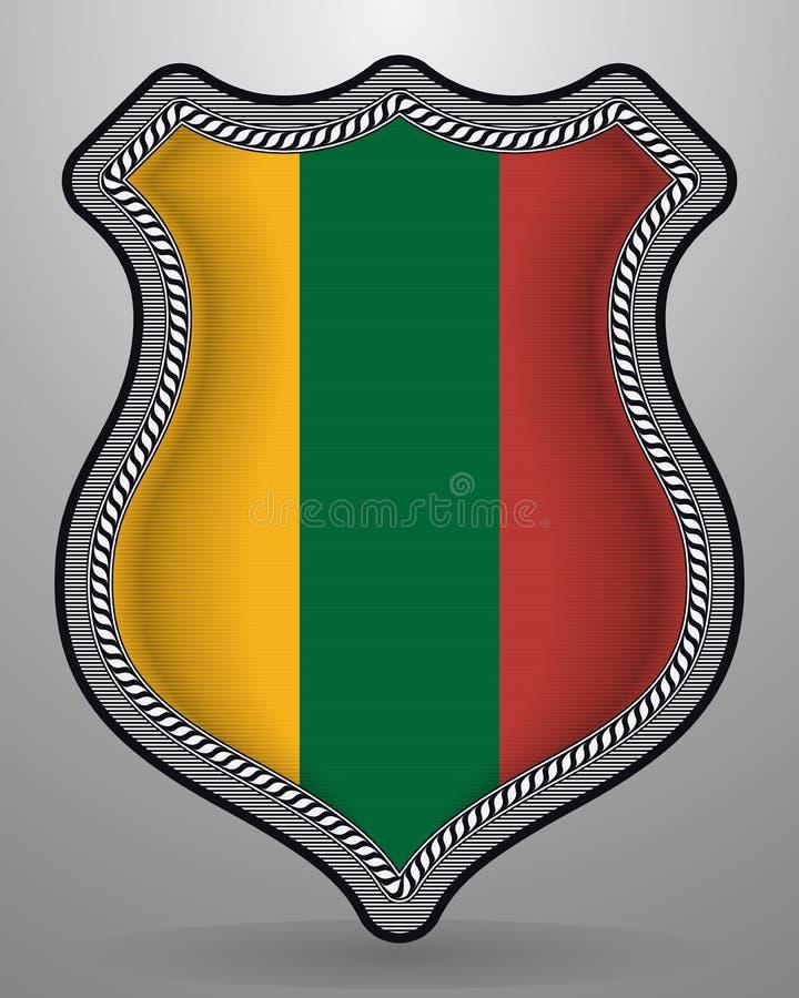 flagga lithuania Vektoremblem och symbol royaltyfri illustrationer