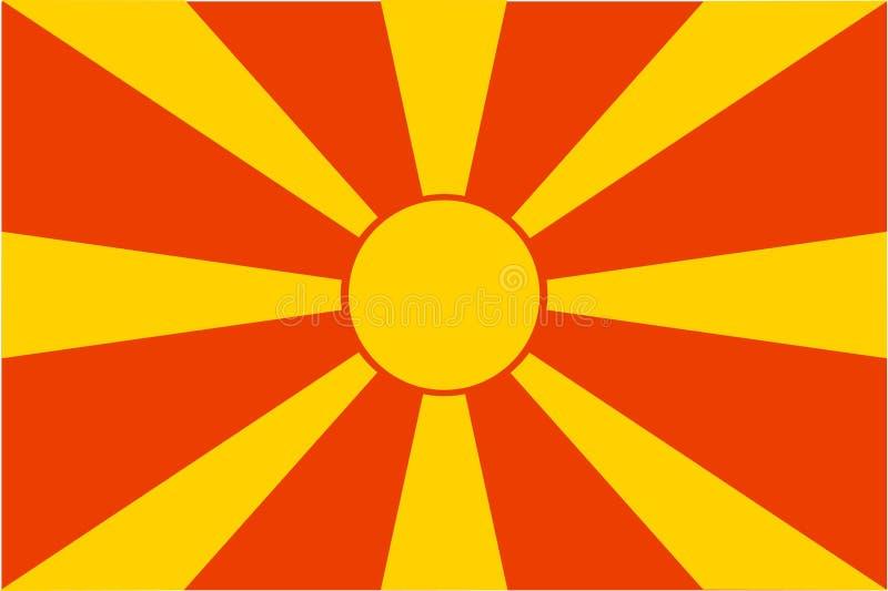 flagga macedonia vektor illustrationer