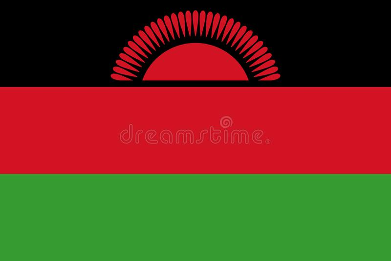 flagga malawi stock illustrationer
