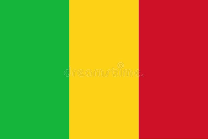 flagga mali royaltyfri illustrationer
