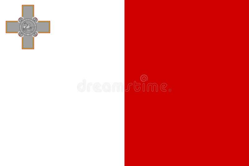 flagga malta stock illustrationer