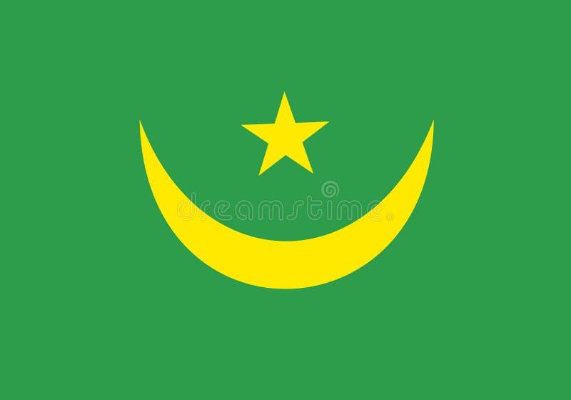 flagga mauritania stock illustrationer