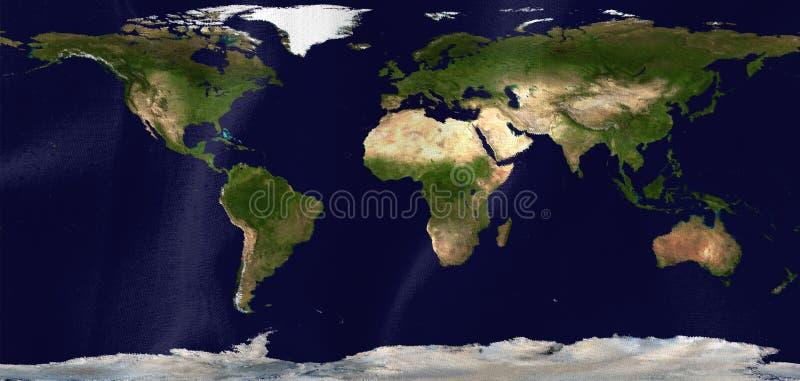 Flagga med översikten av landet och kontinenterna stock illustrationer
