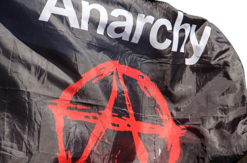 Flagga med en anarki en royaltyfri foto