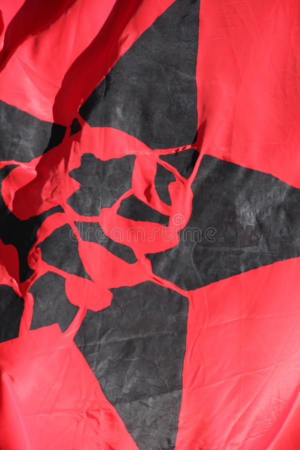 Flagga med en anarki fem arkivbild