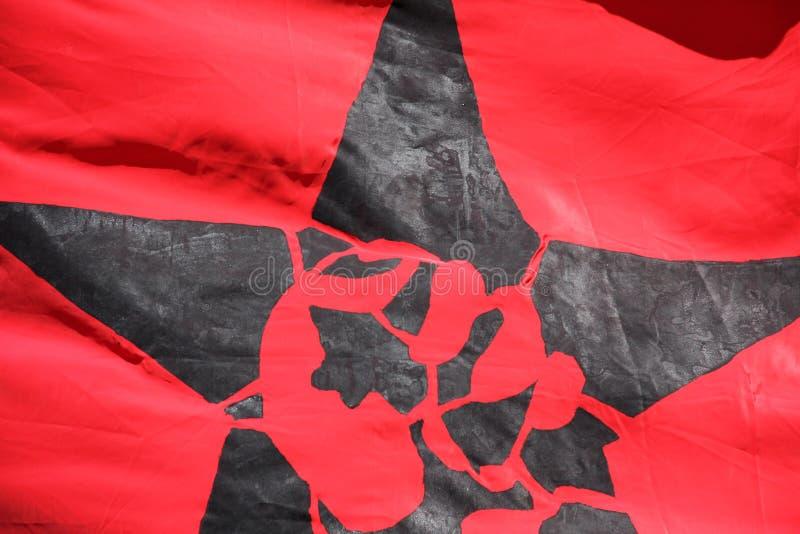 Flagga med en anarki fyra royaltyfri fotografi
