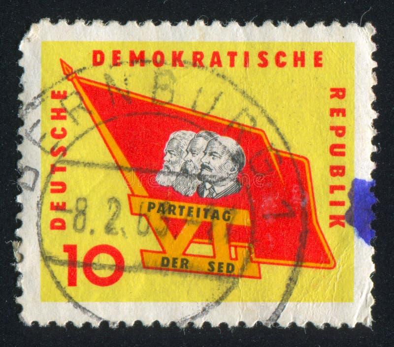 Flagga med Marx royaltyfri fotografi