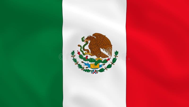 flagga mexico arkivbilder