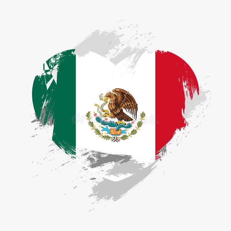 flagga mexico royaltyfria bilder