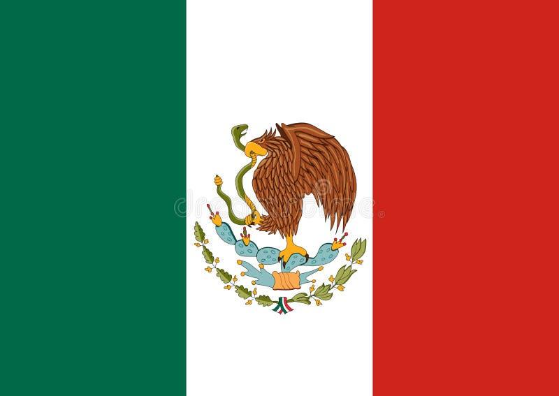 flagga mexico Mexicansk nationell bakgrund stock illustrationer