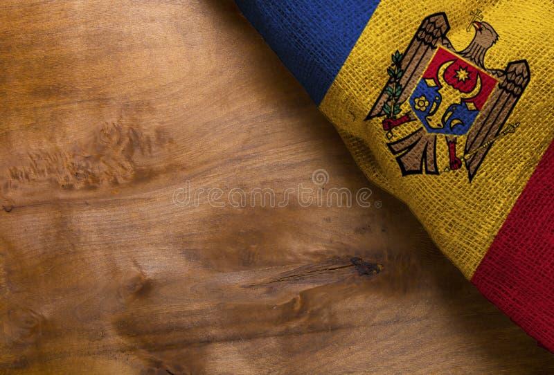 flagga moldova royaltyfria foton