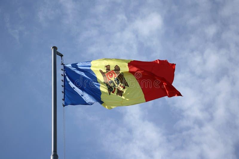 flagga moldova arkivfoton