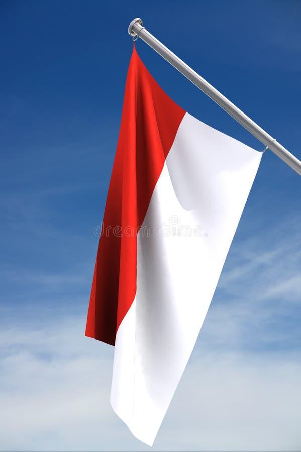 flagga monaco arkivbild
