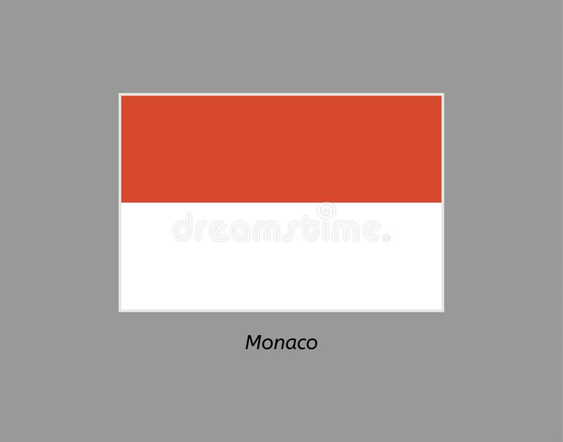 flagga monaco vektor illustrationer