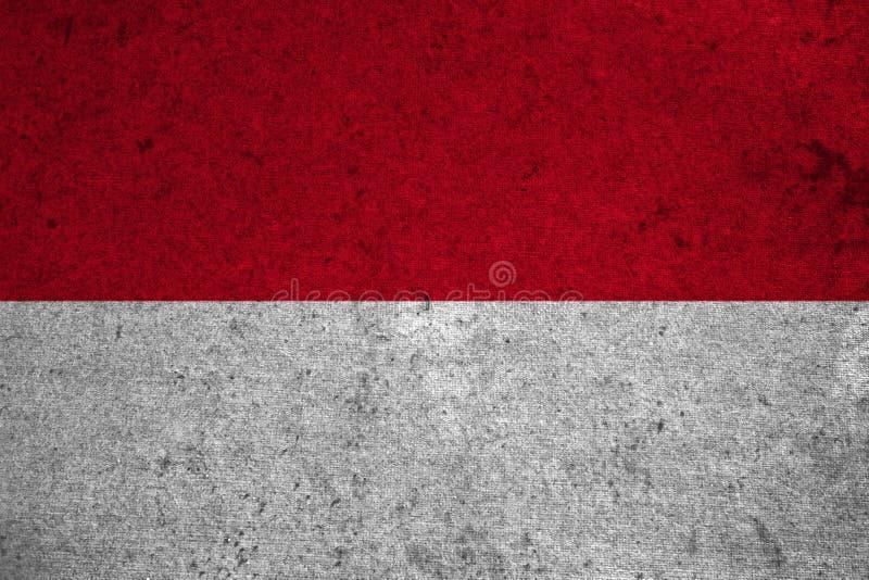 Flagga Monaco royaltyfri illustrationer