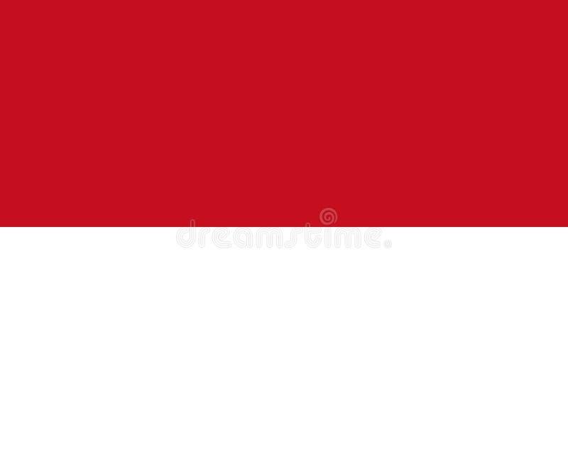 flagga monaco Vektorflagga med officiella färger och korrekt proportion royaltyfri illustrationer