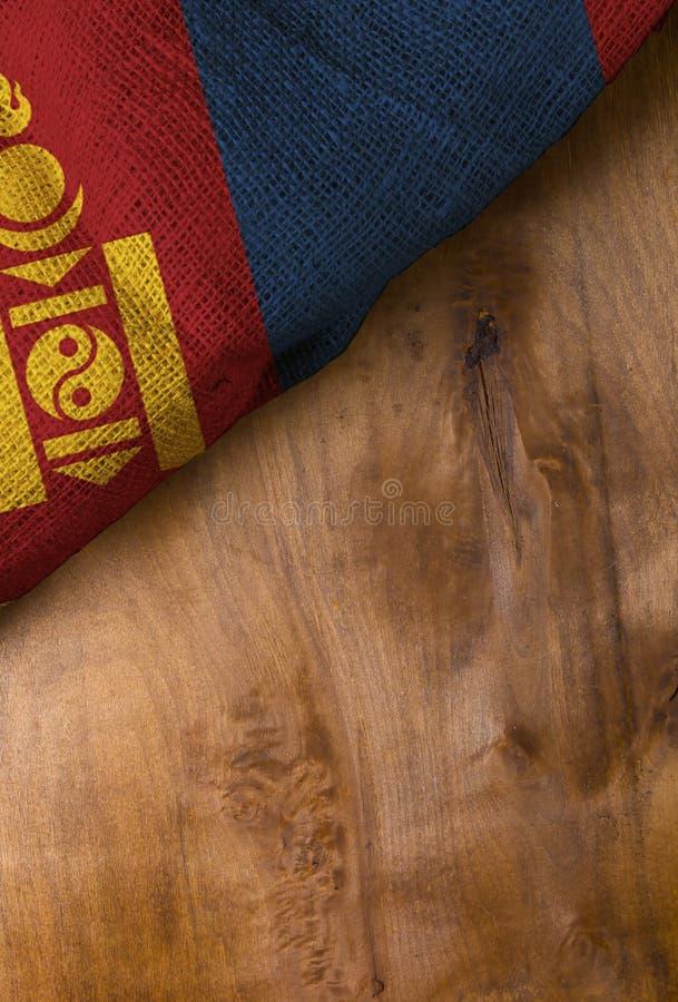 flagga mongolia royaltyfri bild