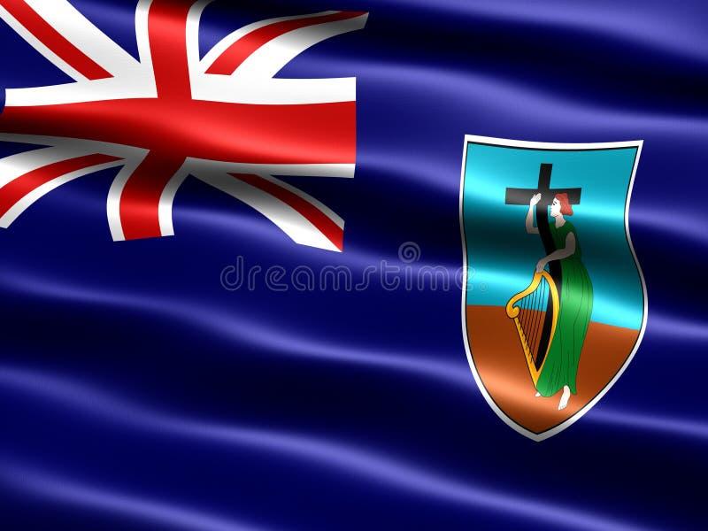 flagga montserrat royaltyfri illustrationer