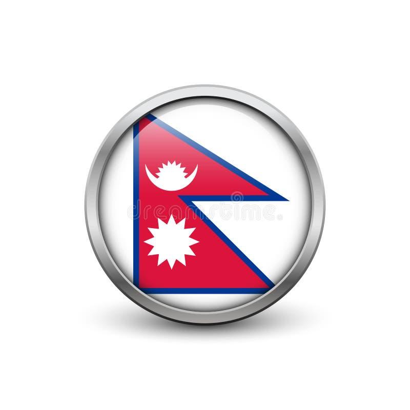 flagga nepal royaltyfri illustrationer