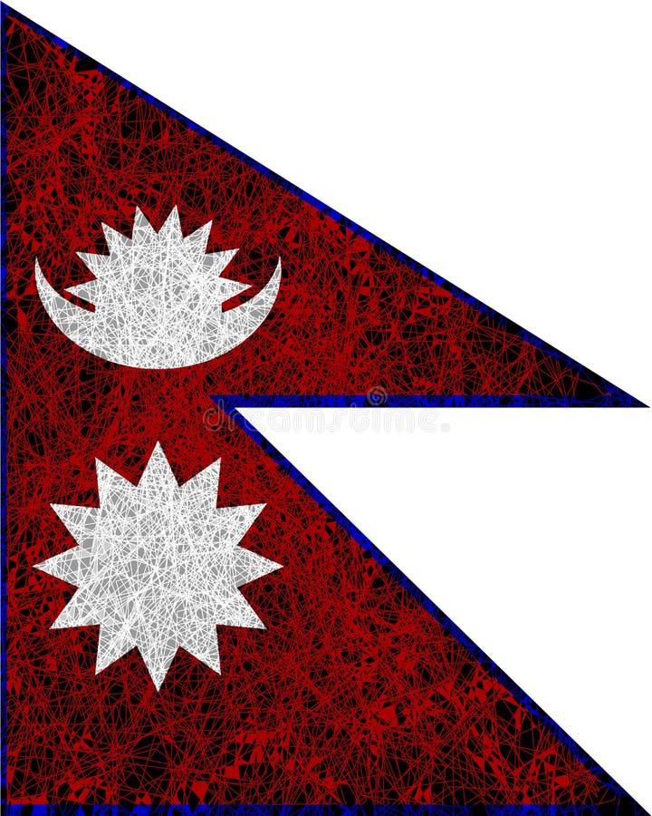 flagga nepal stock illustrationer