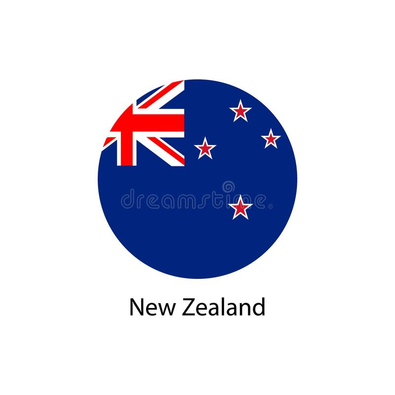 flagga New Zealand royaltyfri illustrationer