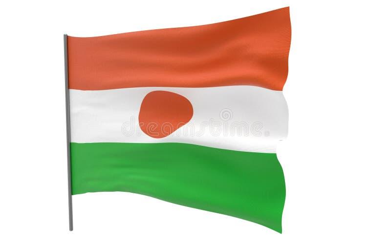flagga niger royaltyfri illustrationer