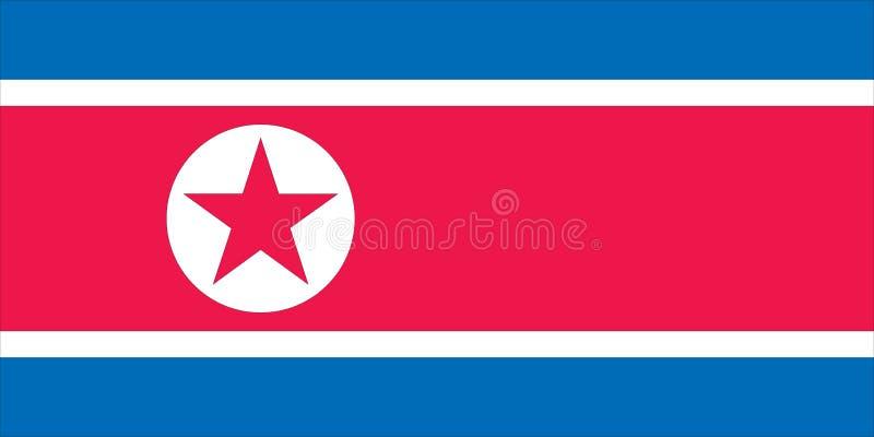 flagga norr korea stock illustrationer